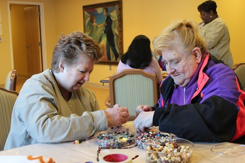 Senior Day Care Beading Activites